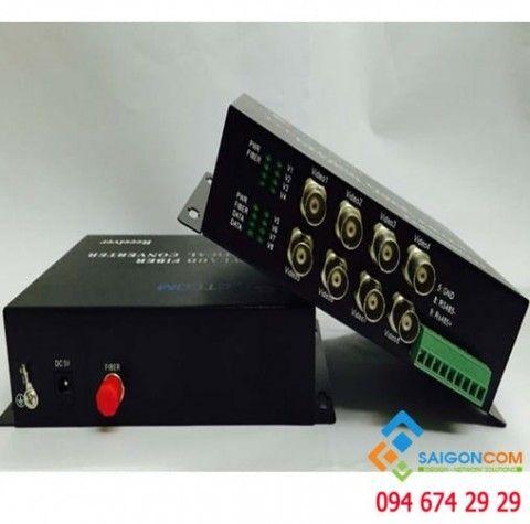 Bộ chuyển đổi quang video 8 kênh 720P/960P cho camera AHD/CVI/TVI.  RS 485/PTZ