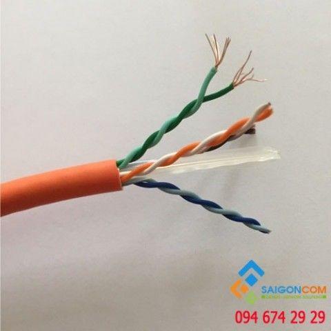 Cáp mạng Hosiwell Cat6 UTP Patch cable 4P x 24 AWG - chuyên dùng cho thang máy