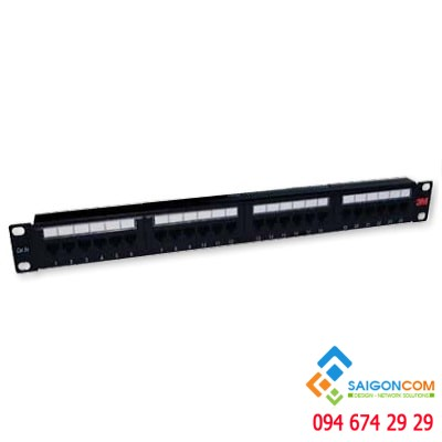 Patch panel 3M Cat.6 24 ports 1U