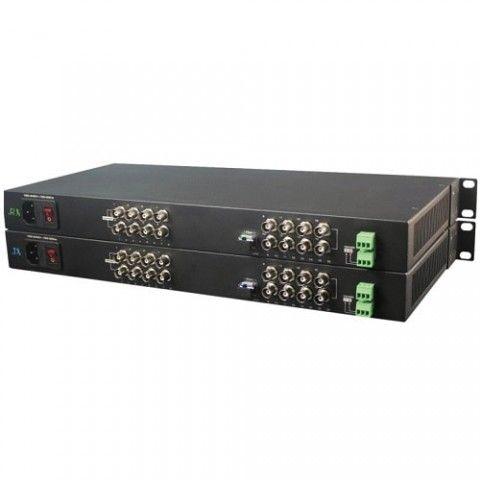 Bộ chuyển đổi quang 16 kênh VPF-16A danh cho camera , khoảng cách 20km