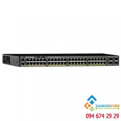 Bộ chia tín hiệu Switch CISCO  48 port Catalyst 2960-X 48 GigE, 2 x 1G SFP, LAN Lite
