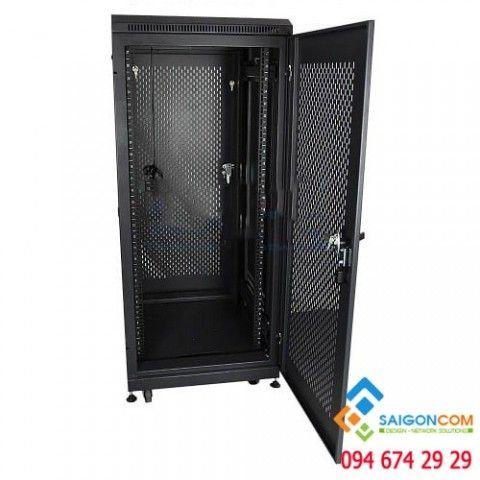Tủ Comrack  36U D600 - H1760xD600xW600mm  dùng trong nhà, dày 0.8mm