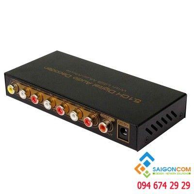 Bộ giải mã âm thanh số 5.1 CH với USB