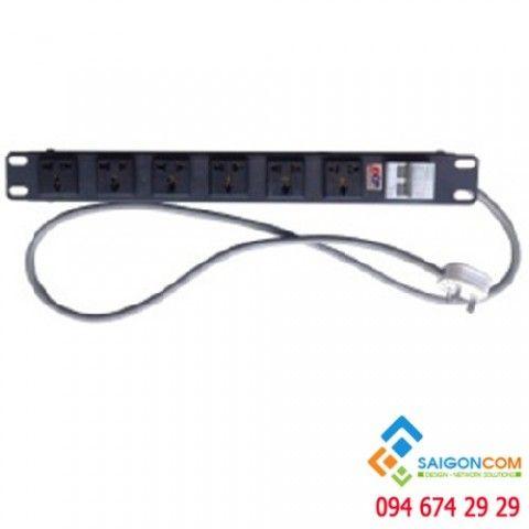 Ổ điện 6 port có CB 32A