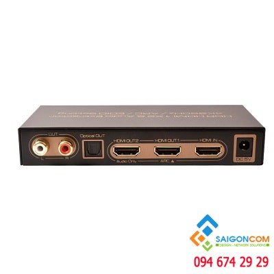 HDR HDMI Splitter 1X2 Audio Extractor