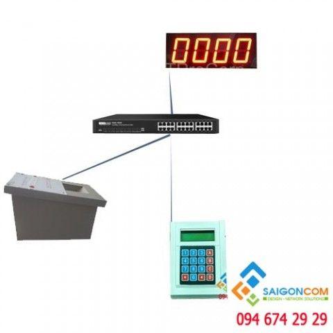 Bộ lấy số tự động tại một quầy ( máy lấy số, bảng led, bàn phím)
