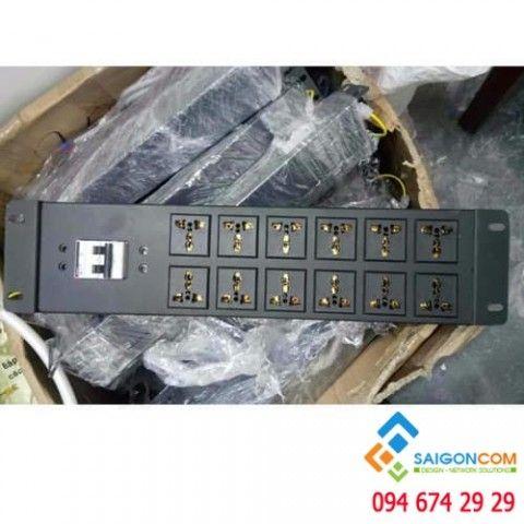 thanh nguồn tủ rack ổ 12 port - CB 32A