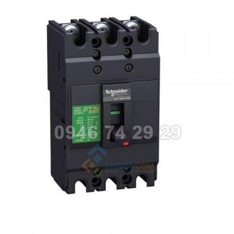 Aptomat (MCCB)  EZC100N3100 3P-15KA-100A Schneider