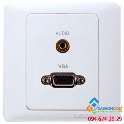 Bộ ổ cắm VGA và ổ cắm tai nghe 3.5 60495-30 Simon