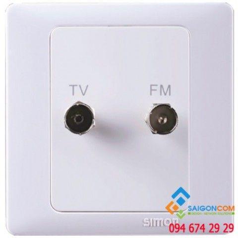 Bộ ổ cắm TV/FM có bảo vệ kết nối chuẩn F 705119S Simon