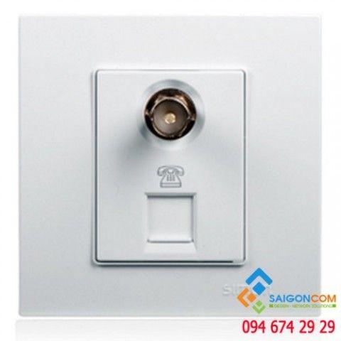 Ổ cắm TV và ổ cắm điện thoại chuẩn RJ11 V59701 Simon