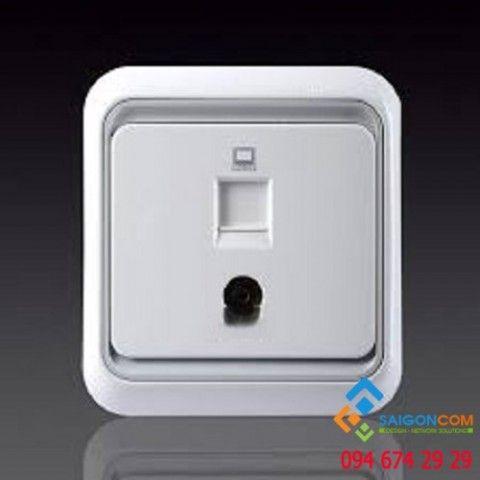 Bộ ổ cắm Tv và dữ liệu chuẩn RJ45 cat.5e 60492S-50 Simon