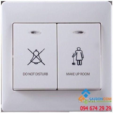 """Bộ 2 công tắc hiển thị """"không làm phiền""""  và """"mời dọn phòng"""" DV59023 Simon"""
