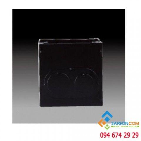 Đế âm đơn, kim loại 45DH76-1 Simon
