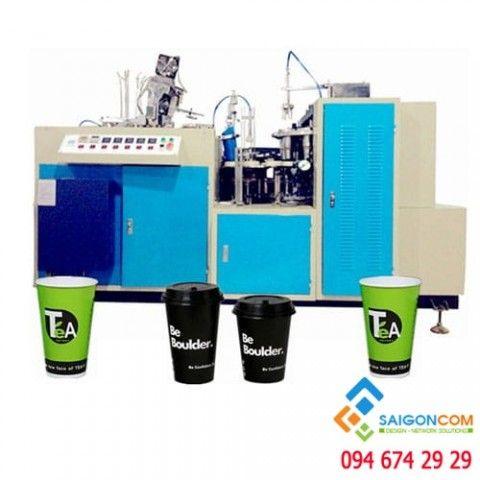 Máy làm ly giấy tự động DS-B12 , chạy êm , không gây ồn, sự dụng điện 220V
