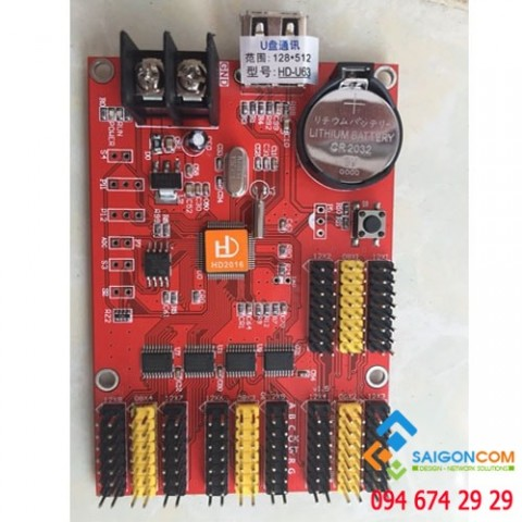 Card  điều khiển led Module HD-U63-8T 8 tầng