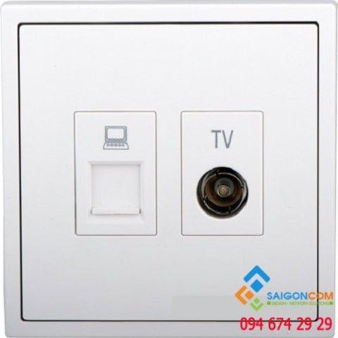 Module ổ cắm TV và dữ liệu Cat6 705602 Simon