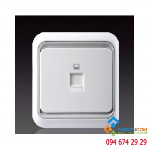 Bộ 2 Ổ cắm TV đầu ra kết nối chuẩn F 60479-50 Simon