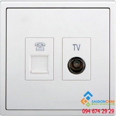 Bộ ổ cắm TV và điện thoại 705301 Simon