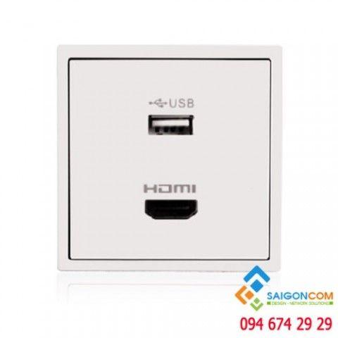 Bộ ổ cắm USB và HDMI âm tường Simon | P/N: 60494-30