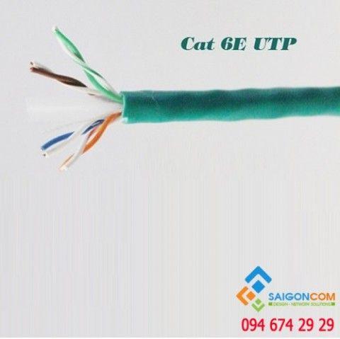Dây cáp mạng Superlink CAT6E UTP màu xanh lá