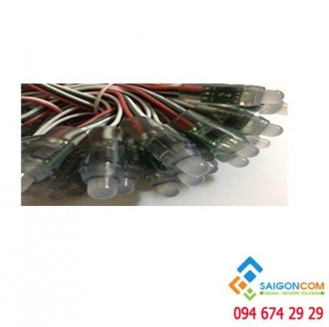 LED đầu 8 ly đúc nhựa 12ly 0,3W, 7 màu
