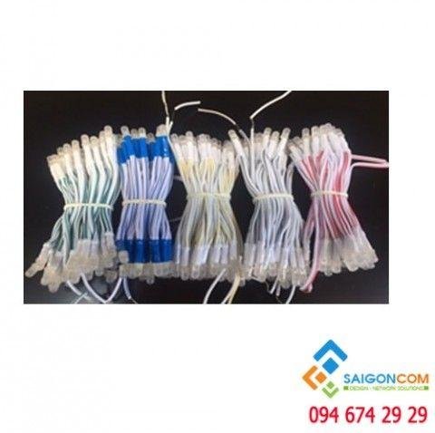 Led liền dây 5mm  bịch 1000 bóng có các màu đỏ - vàng - trắng - xanh lá - xanh dương
