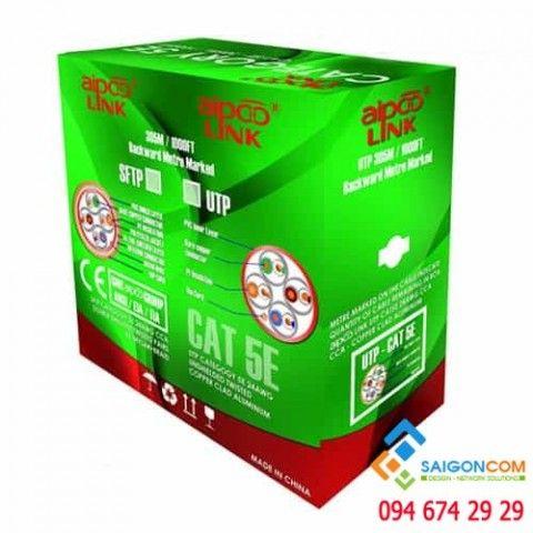 Cáp mạng Aipoo Link CCA CAT5E Hợp Kim, 24AWG 0.511mm, PVC