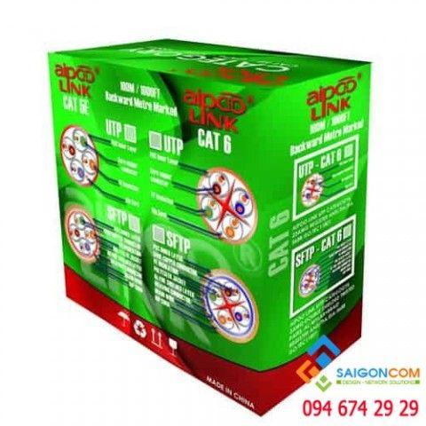 Cáp mạng Aipoo Link CCA CAT6 Hợp Kim, 23AWG 0.57mm, PVC