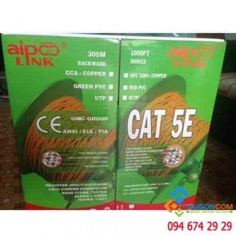 Cáp mạng Aipoo Link OFC CAT5E, 24AWG 0.51mm, PVC