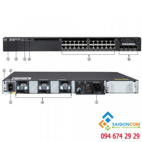 Bộ chia tín hiệu Switch Cisco Catalyst 3650 24 Port Data 4x1G Uplink IP Base - WS-C3650-24TS-S
