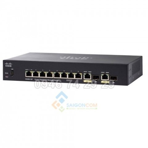 Switch Cisco SG350-10P-K9-EU switch 8 port