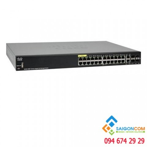 Bộ chia tín hiệu Switch Cisco Small Business SG350-28MP-K9 28-Port Gb PoE Managed Switch