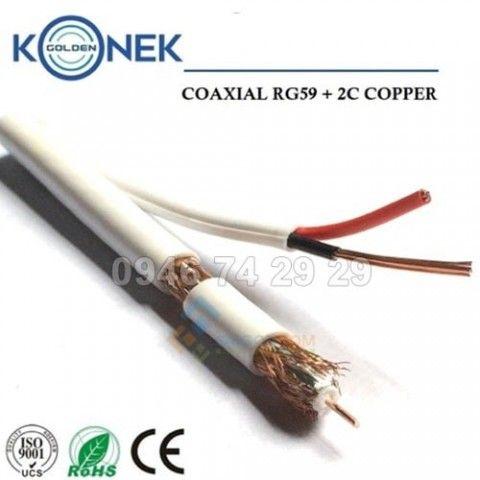 Cáp đồng trục Golden Konek RG 59 - 2C