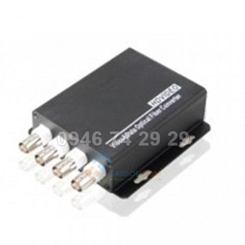 Converter Quang  to Video 4 Port