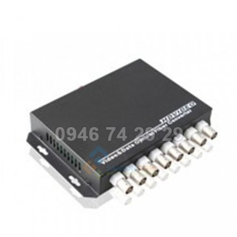 Converter Quang  to Video 8 Port + RS485