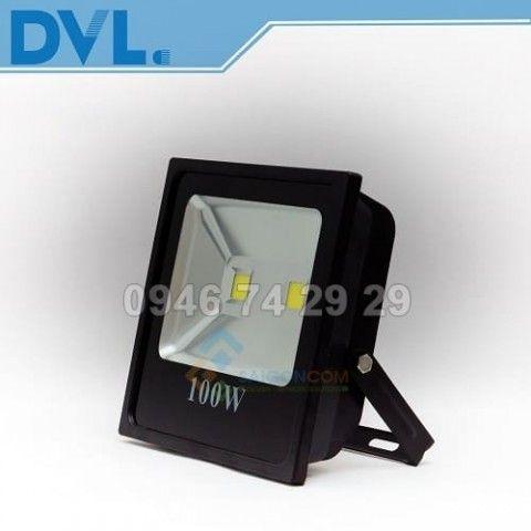 Đèn LED nhà xưởng pha  DVL  100W 290x290x90