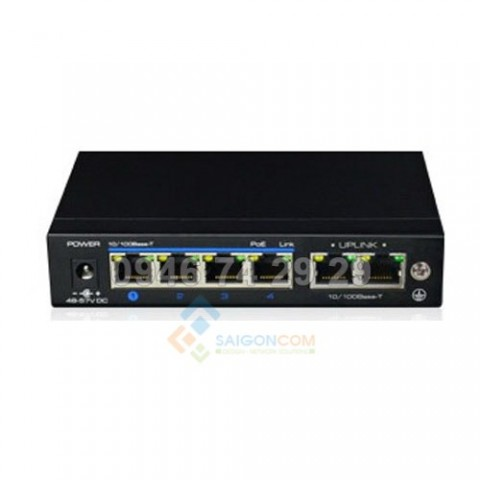 Switch ionnet 4 Ports Full Gigabit PoE , 802.3af/at, One Key CCTV