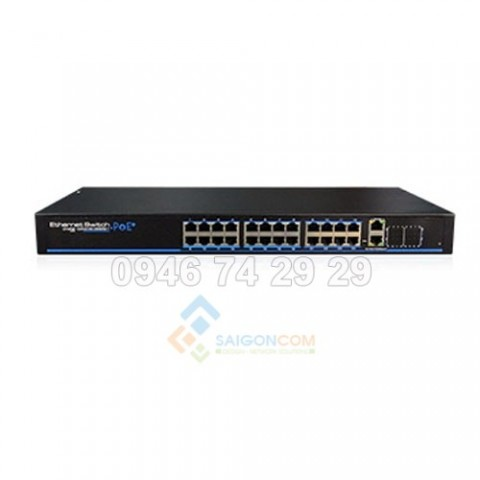Switch ionnet 24 Ports PoE Fast Managed Ethernet , 802.3af/at, Support WEB Management, 6KV Lightning Protection, 450W