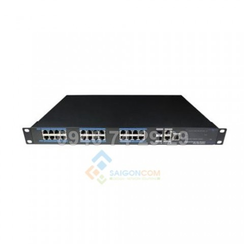 Switch ionnet 24 Ports PoE Full Gigabit Managed Ethernet , 802.3af/at, 6KV Lightning Protection, 480W