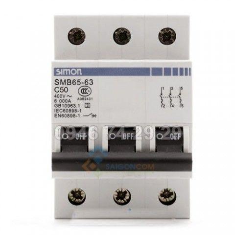 Attomat 3p 40A, dòng cắt 6kA SMB65-63C40/3