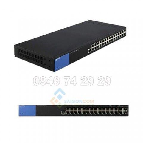 Switch Linksys 26-port 10/100/1000mbps Managed  + 2 RJ45/2 SFP Combo