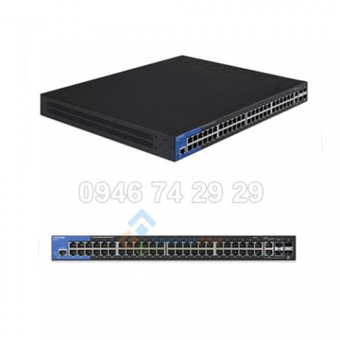 Switch Linksys Business LGS552 48-Port Gigabit Managed + 2x Gigabit SFP/RJ45 Combo Ports + 2x 10G SFP+ Ports