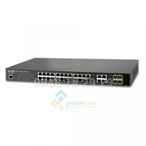 Switch Planet 28-Port 10/100/1000TX with 4 shared 100/1000FX SFP