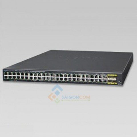 Switch Planet 48-Port 10/100/1000BASE-T + 4-Port 100/1000BASE-X SFP Managed Gigabit