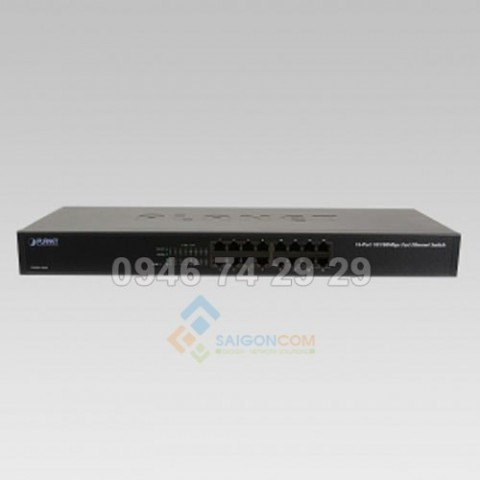 Switch Planet Fast Ethernet 16-Port 10/100Mbps