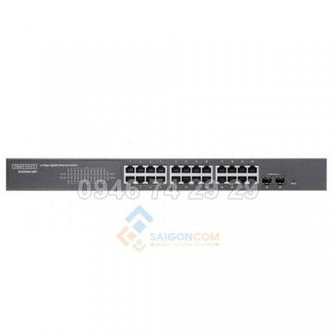 Thiết bị Switch 24 Port 1Gb Edgecore ECS2000-26P,  PoE+ + 2G SFP (190W)
