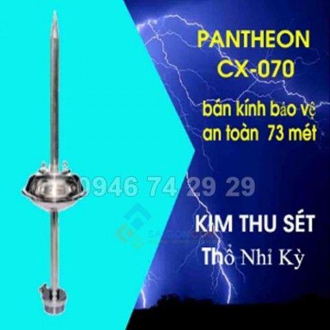 Kim thu sét PanTheOn CX-070, bán kính bảo vệ an toàn 73m