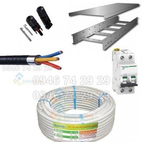Cáp điện đấu nối và ống luồn dây