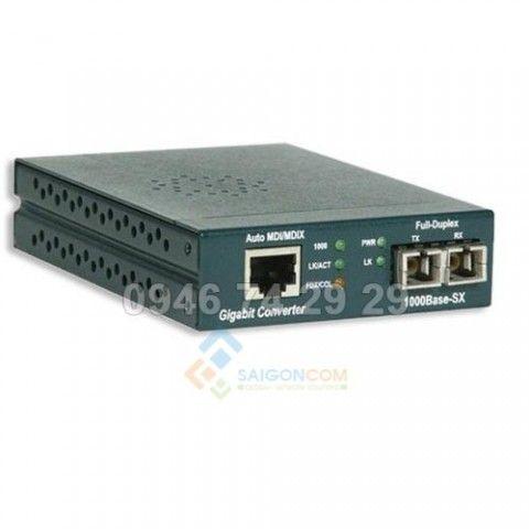 Bộ chuyển đổi quang điện AMP Gigabit Ethernet Media Coverter 1000 base - SX , SC, Multimode